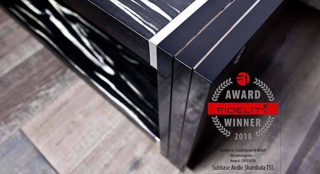 FIDELITY AWARD 2018 für unser SHAMBALA